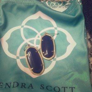 Navy Kendra Scott earrings